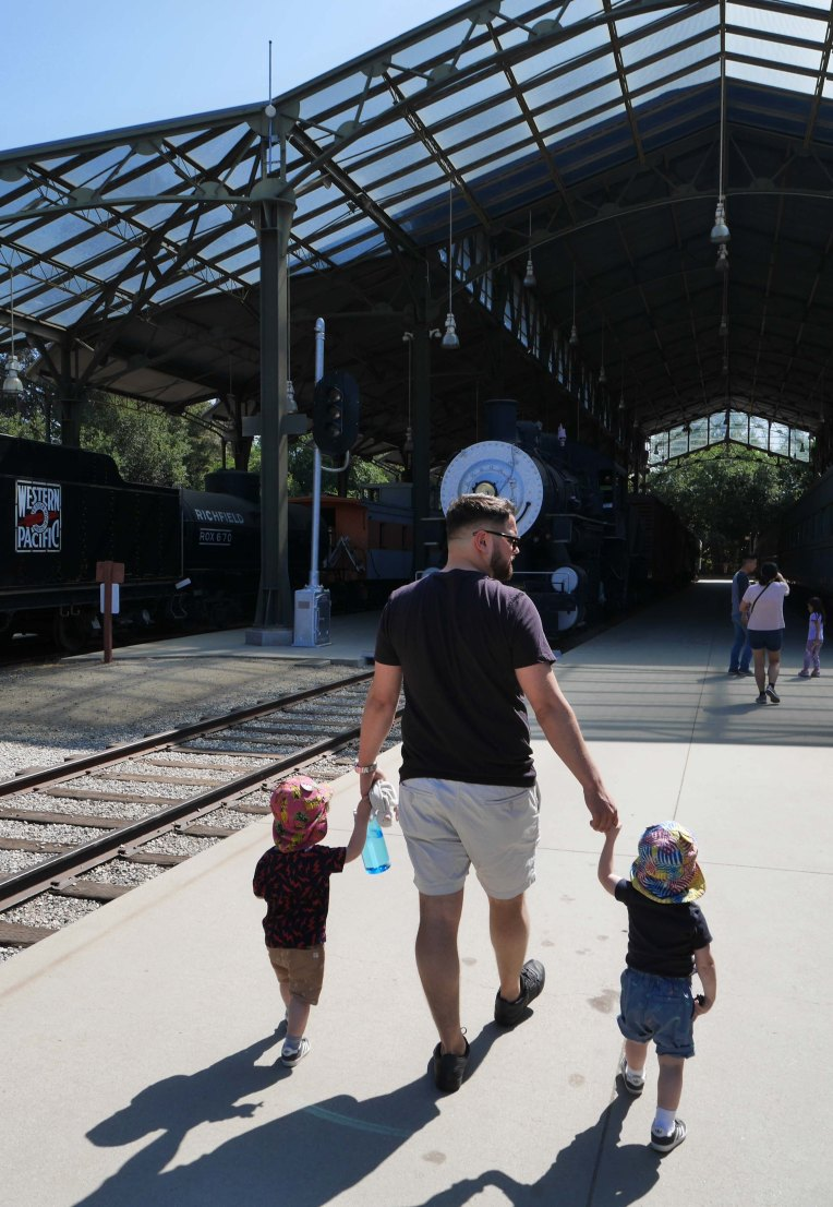 Men and trains